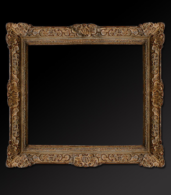 French Antique polychrome frame montparnasse
