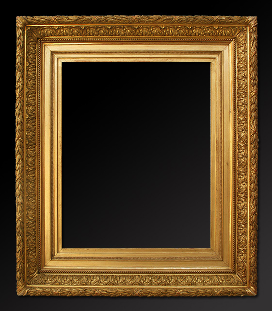 French gilt frame in stucco barbizon style for How to make vintage frames