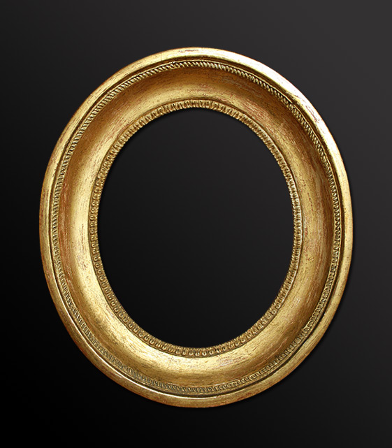 French oval gilt antique frame
