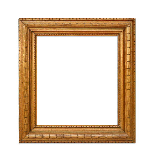 Antique carved wood frame, circa 20th century