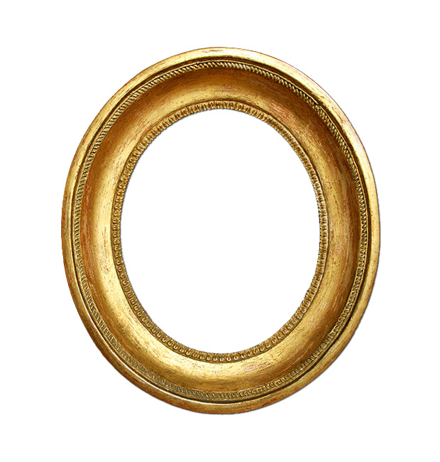 Antique french oval gilt frame, circa 19th century