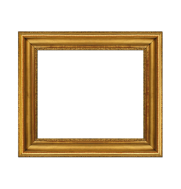 French antique gilt frame in stucco